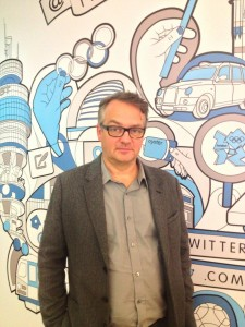 Charlie Higson at Twitter HQ
